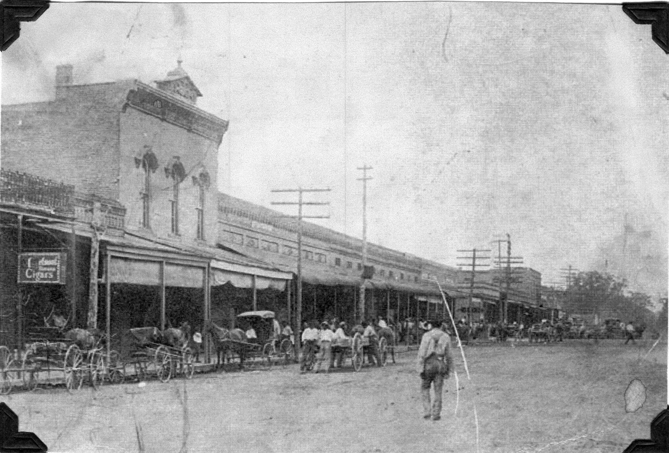 Downtown Macon, Mississippi early 1900s