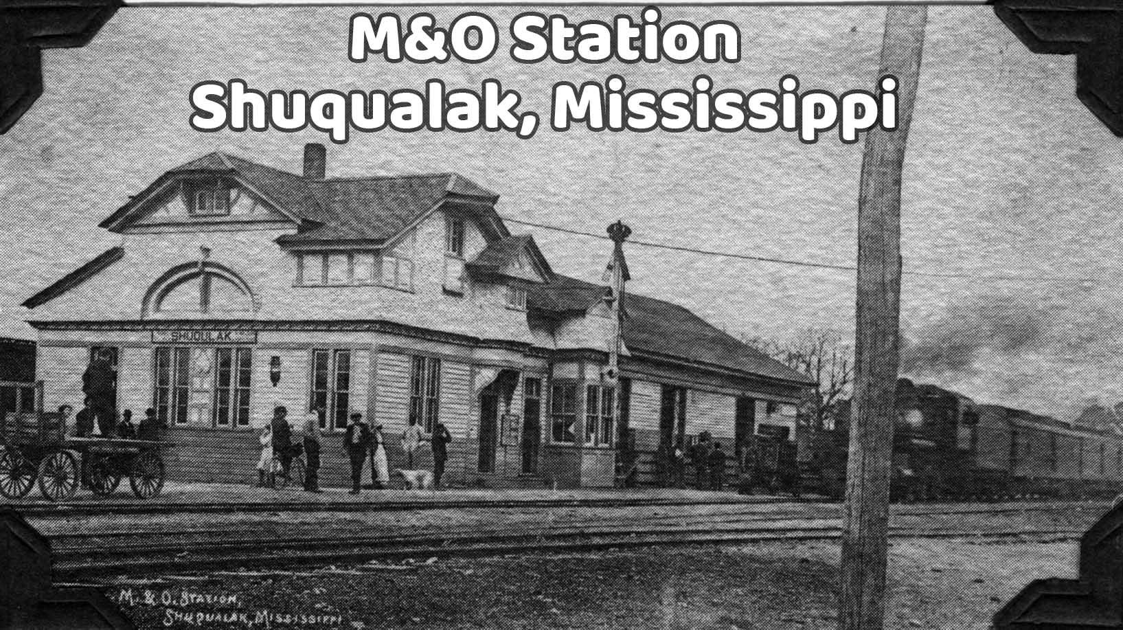 M & O Rail Station in Shuqualak, Mississippi