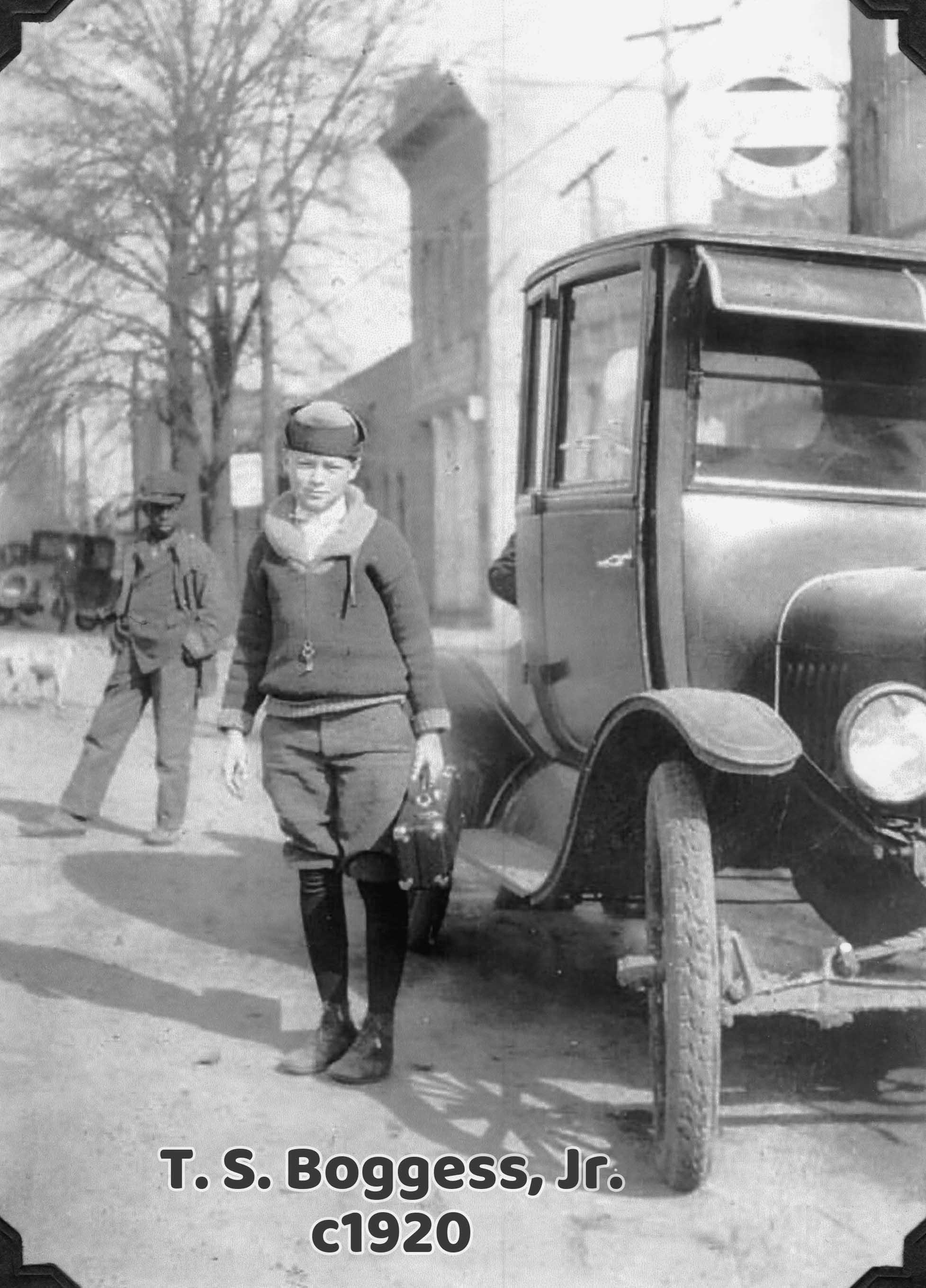 Thomas Shelton Boggess, Jr. circa 1920 with Clarinet